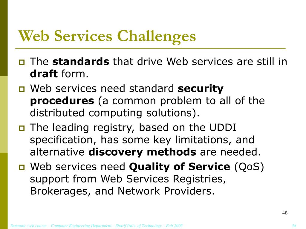 Web Services Challenges