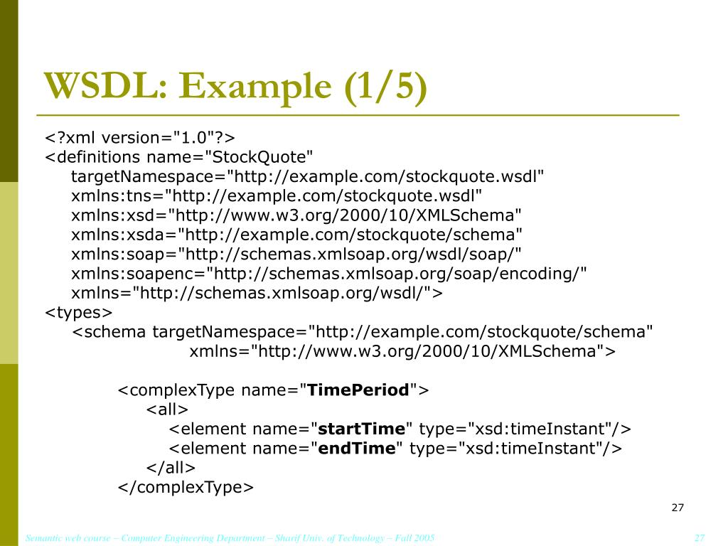 WSDL: Example (1/5)