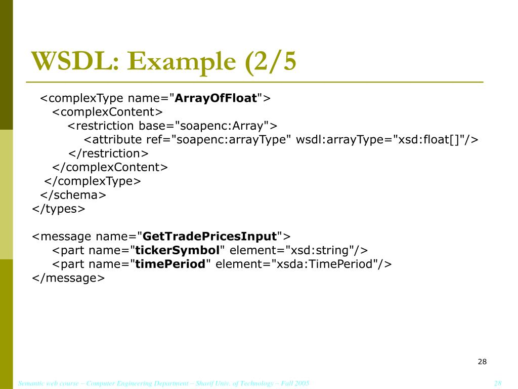 WSDL: Example (2/5