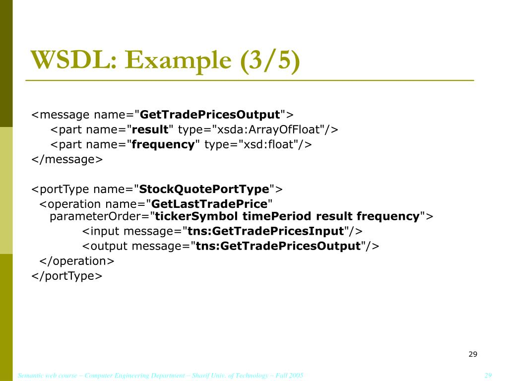 WSDL: Example (3/5)