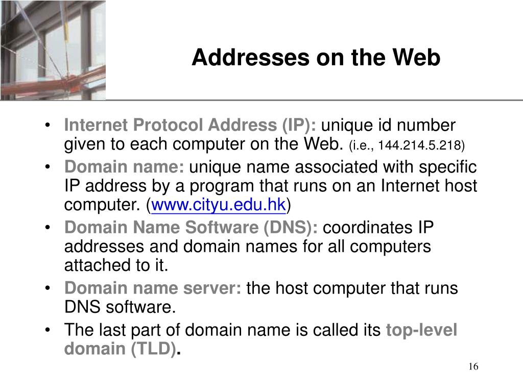 Addresses on the Web
