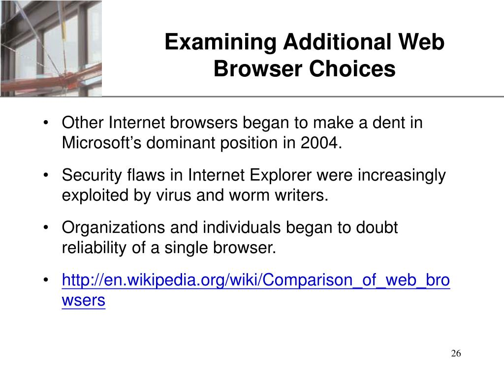 Examining Additional Web Browser Choices