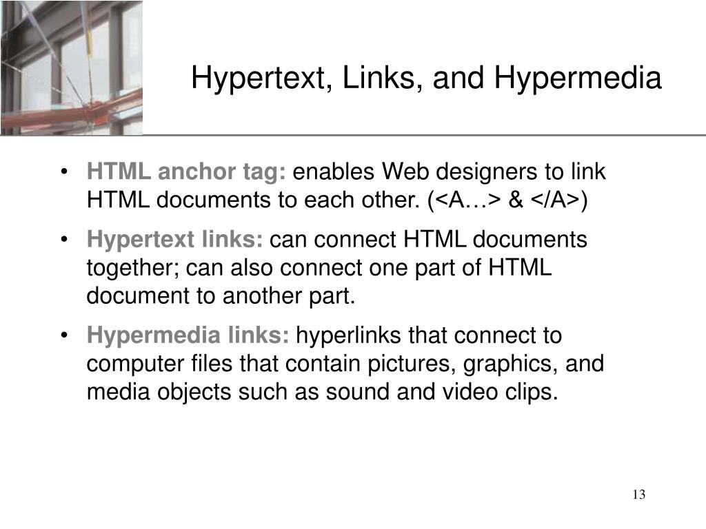 Hypertext, Links, and Hypermedia