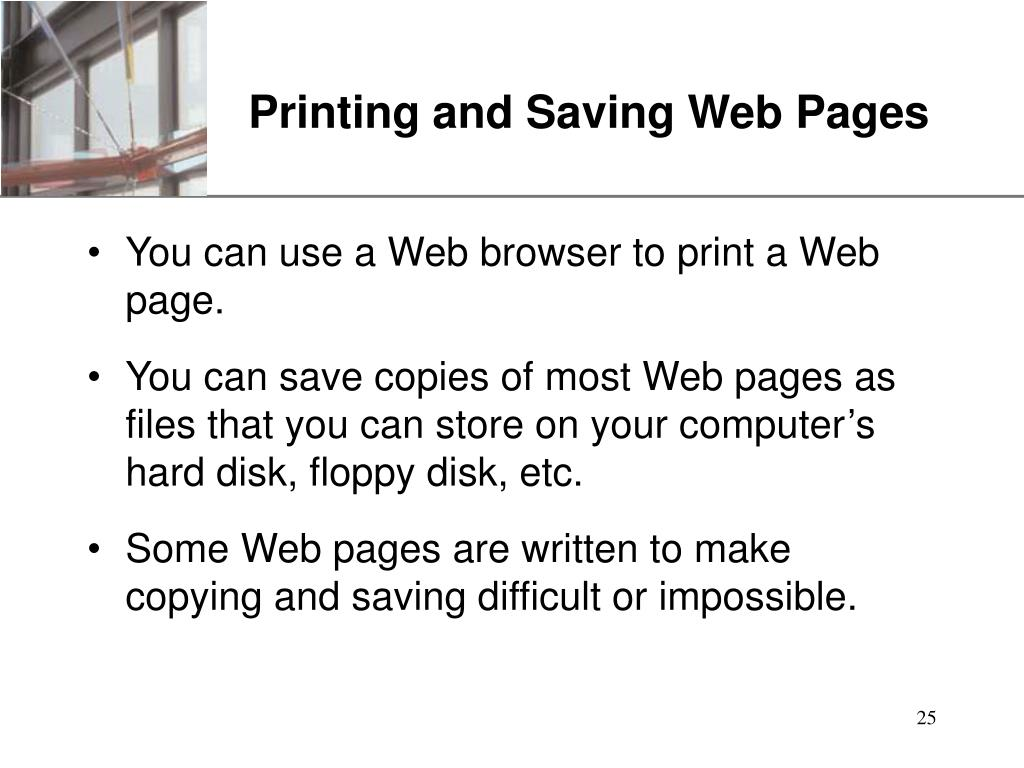 Printing and Saving Web Pages