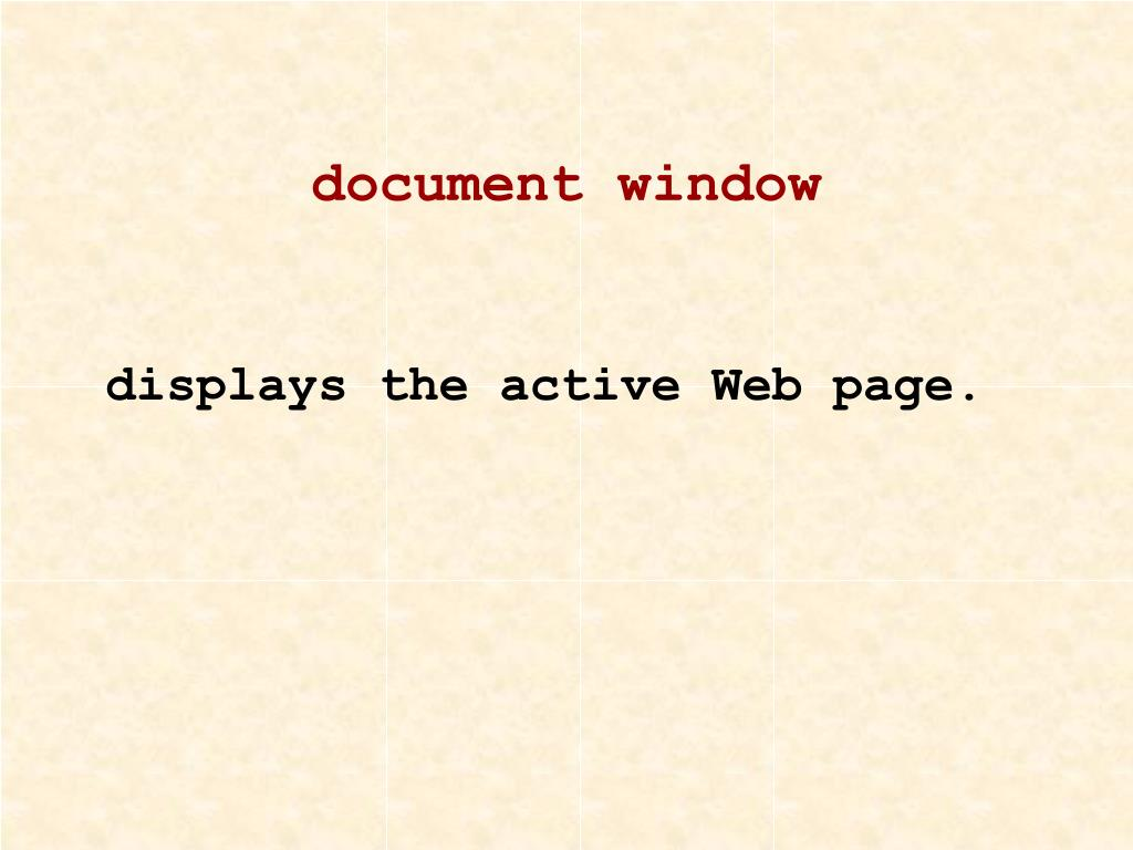 document window