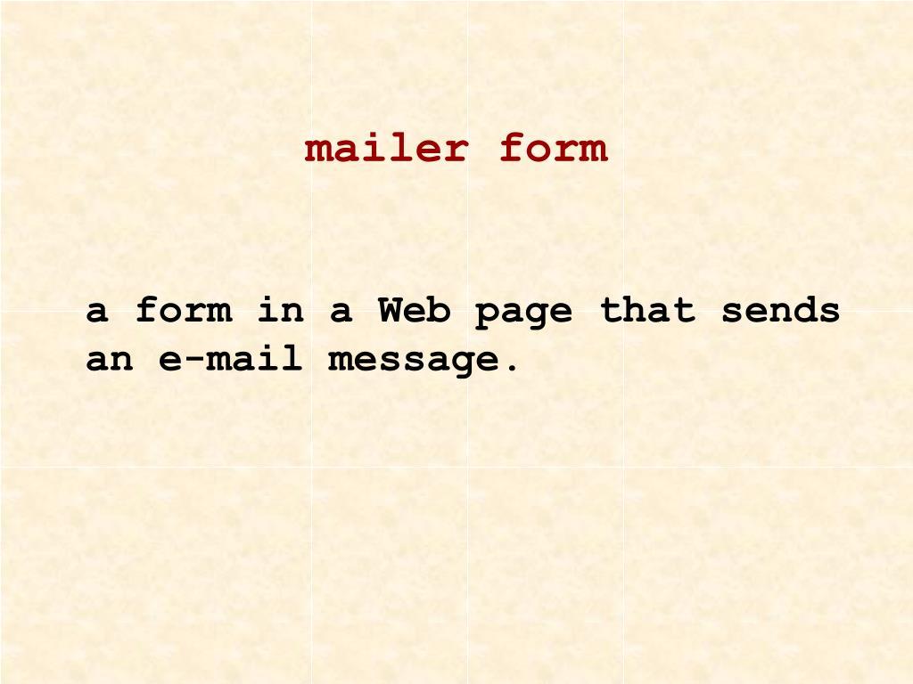 mailer form