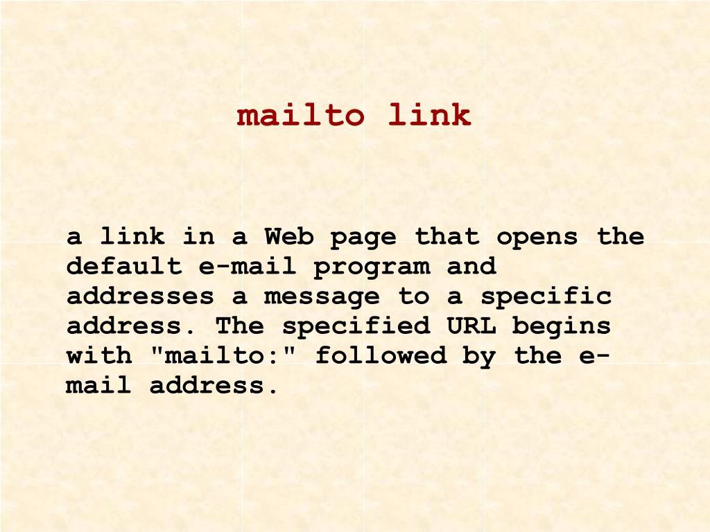 mailto link