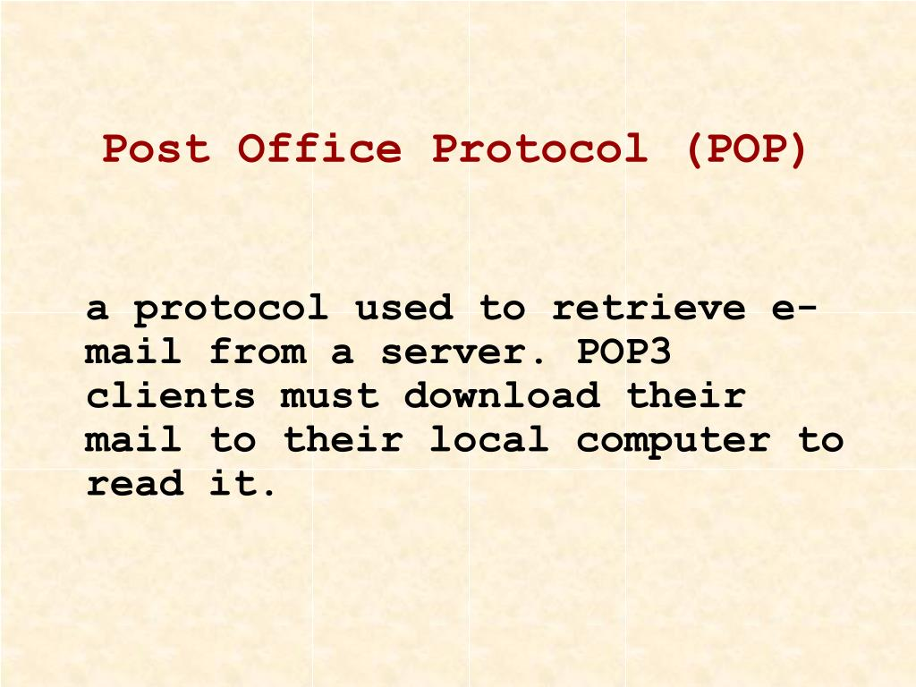 Post Office Protocol (POP)
