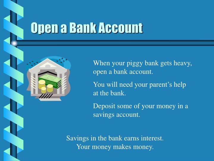 Open a bank account