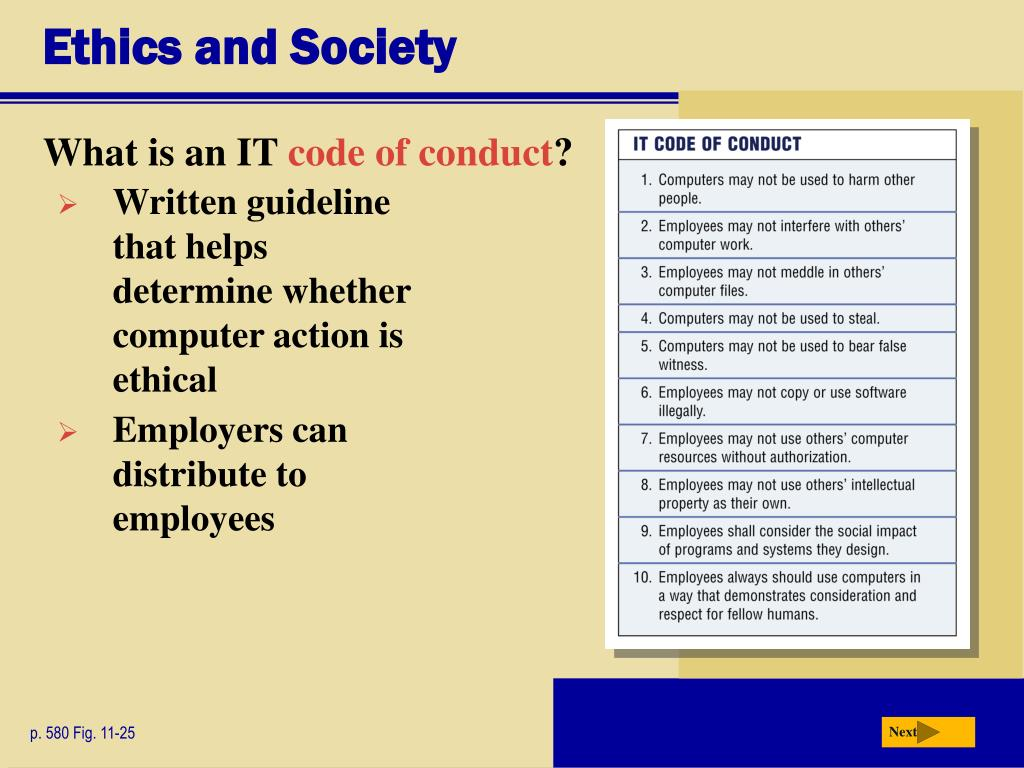 Ethics and Society