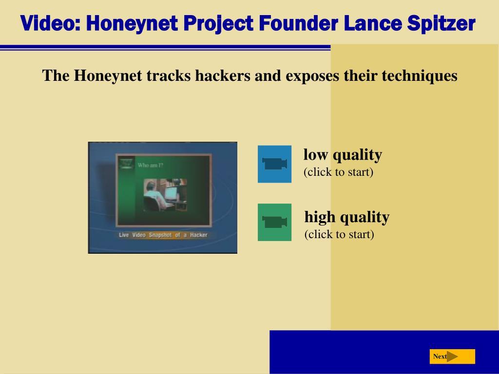 Video: Honeynet Project Founder Lance Spitzer