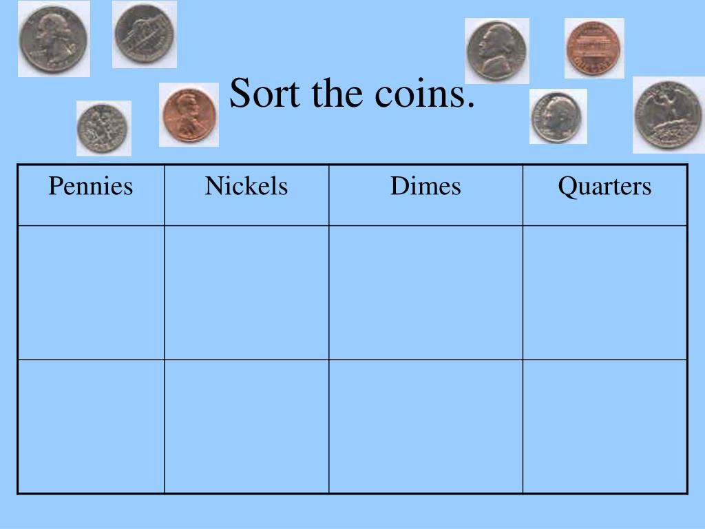 Sort the coins.