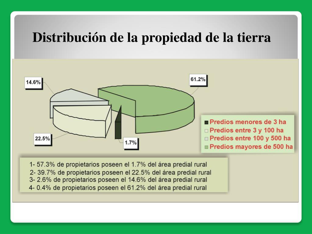 Distribución de la propiedad de la tierra