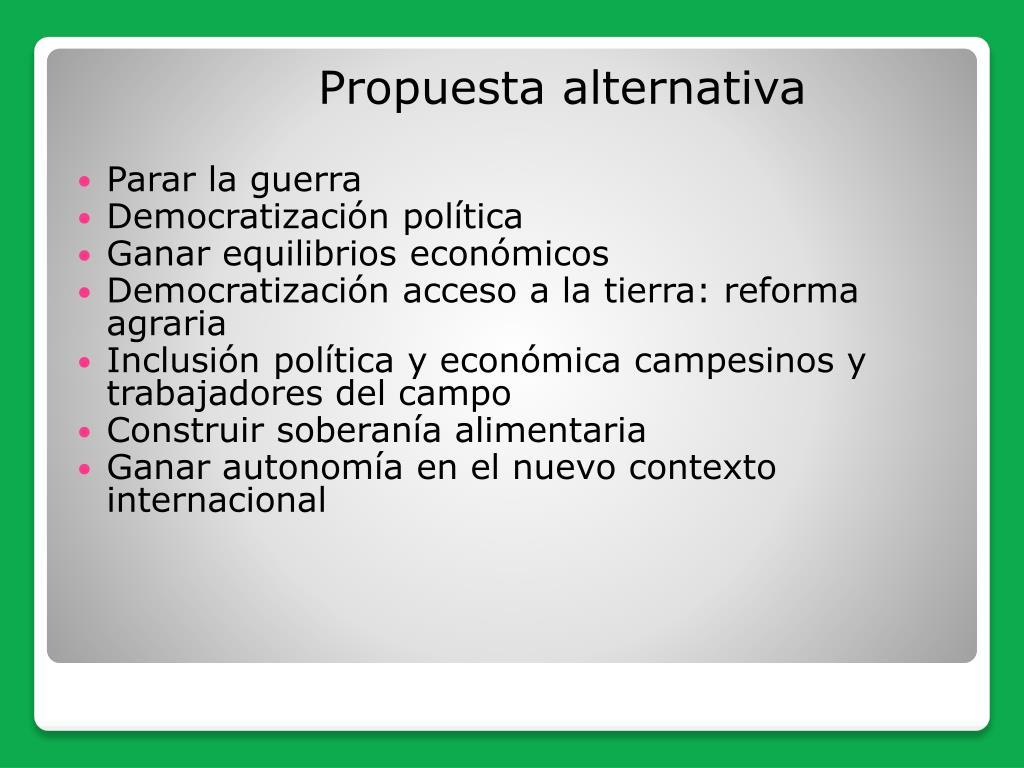 Propuesta alternativa