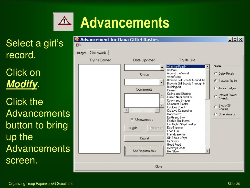 Advancements