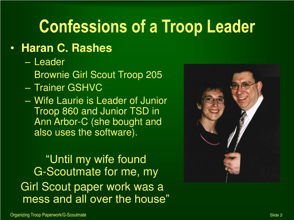 Confessions of a Troop Leader