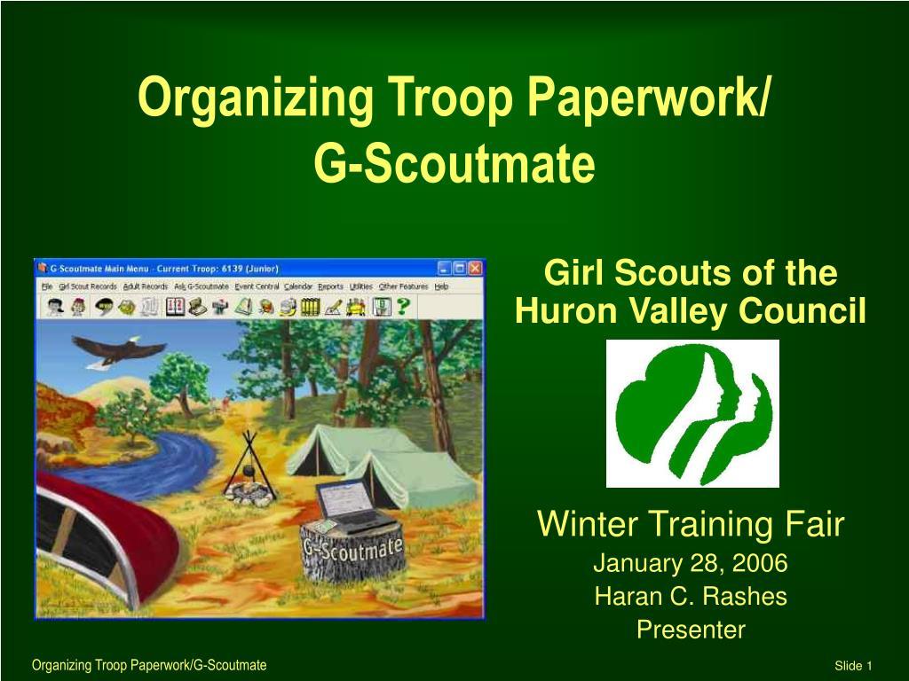 Organizing Troop Paperwork/