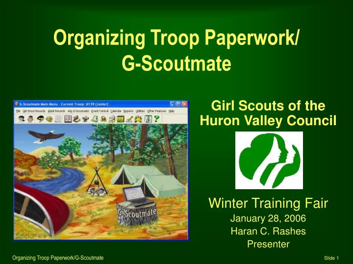 Organizing troop paperwork g scoutmate