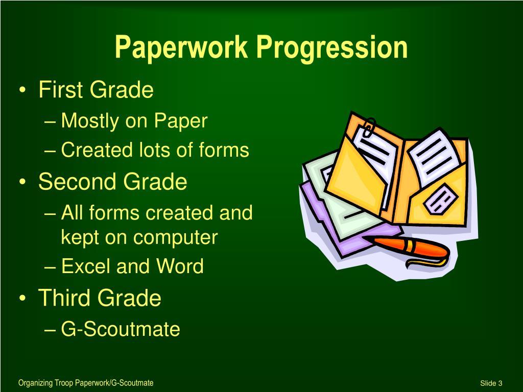 Paperwork Progression