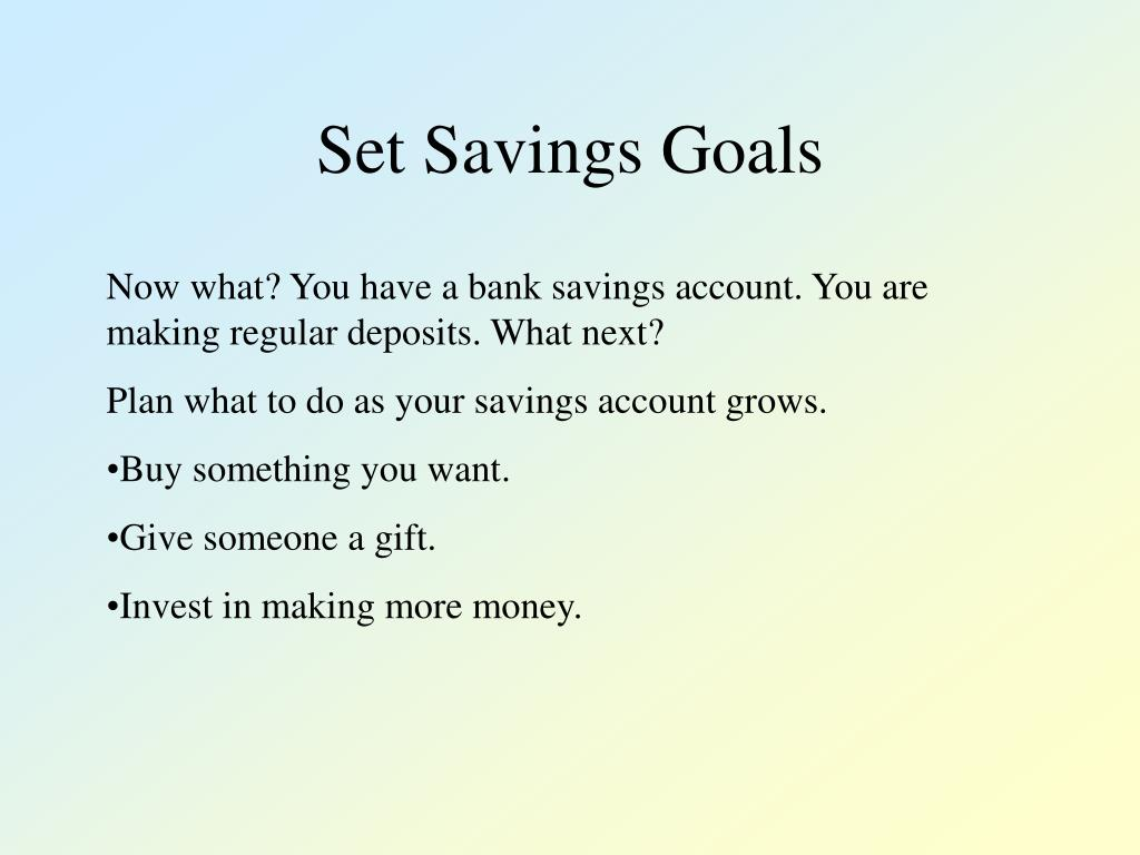 Set Savings Goals