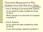classroom management to win students over not win over them