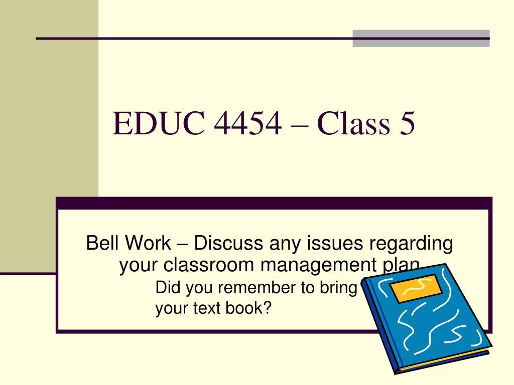 EDUC 4454 – Class 5
