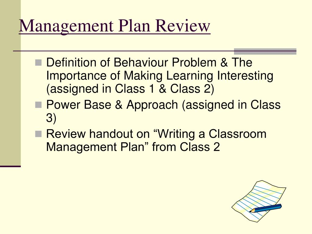 Management Plan Review
