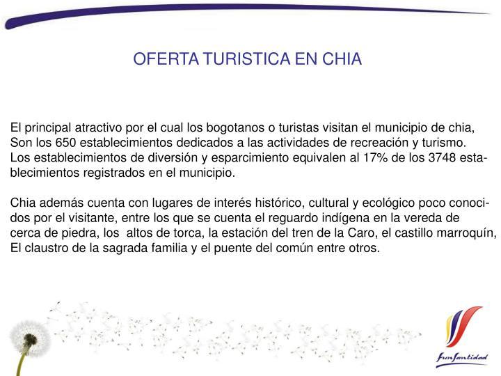 OFERTA TURISTICA EN CHIA