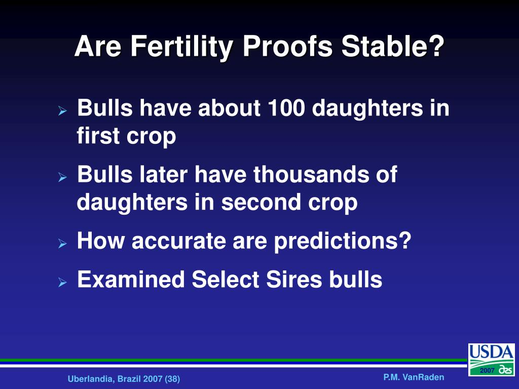 Are Fertility Proofs Stable?