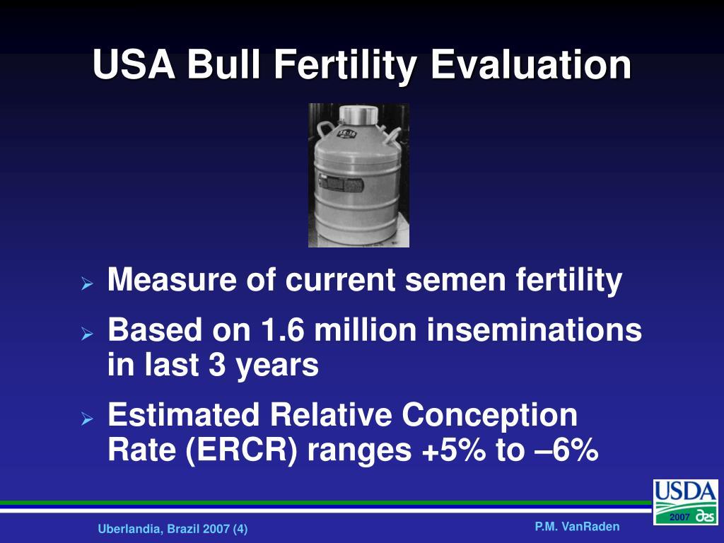USA Bull Fertility Evaluation