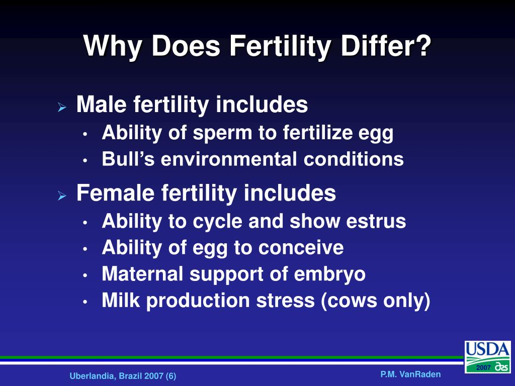 Why Does Fertility Differ?
