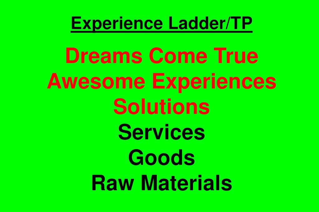 Experience Ladder/TP