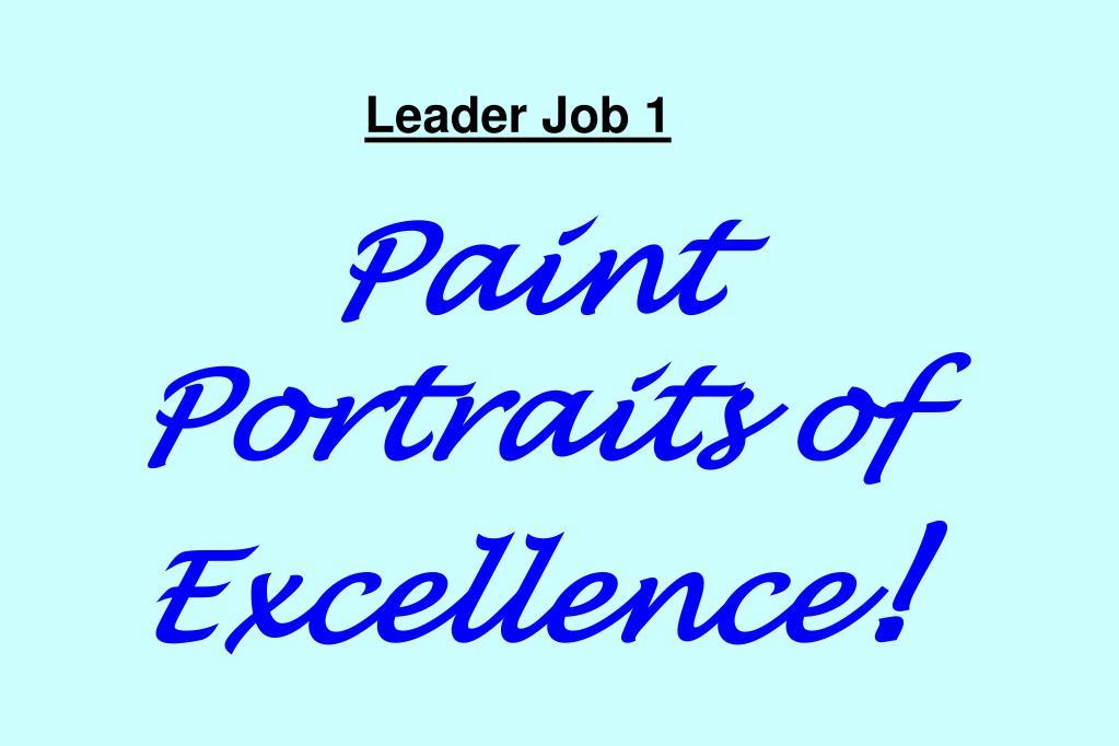 Leader Job 1