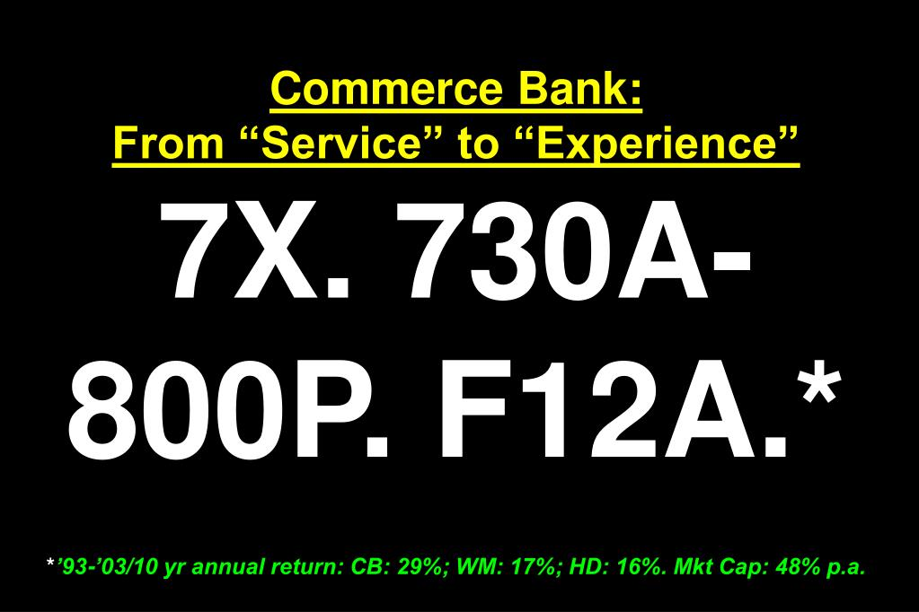 Commerce Bank: