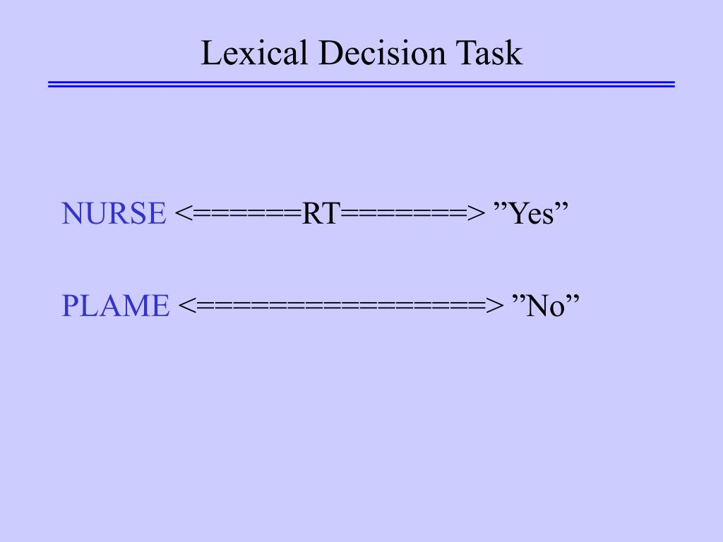 Lexical Decision Task