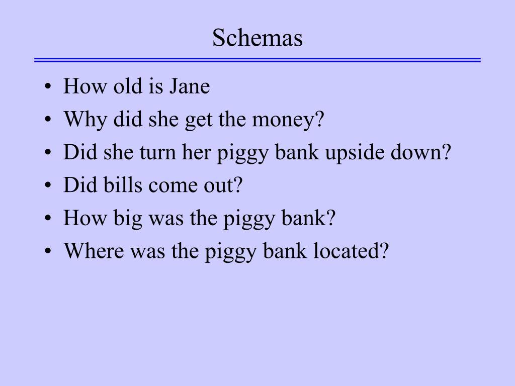 Schemas