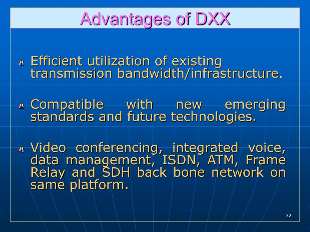 Advantages of DXX