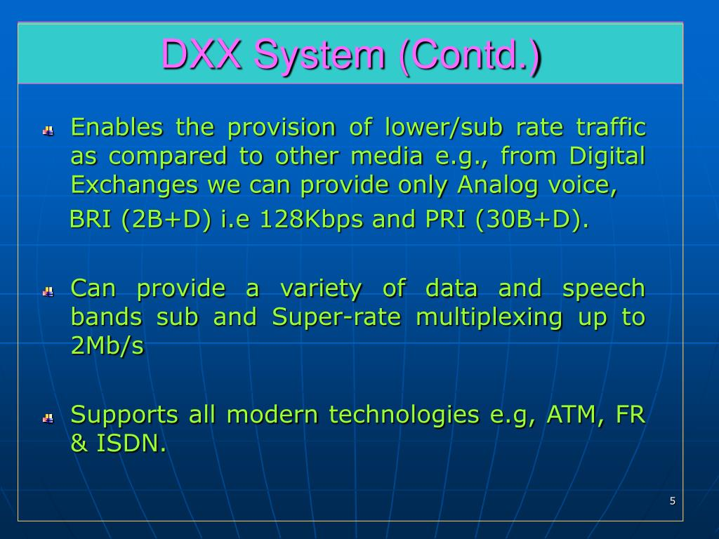 DXX System (Contd.)