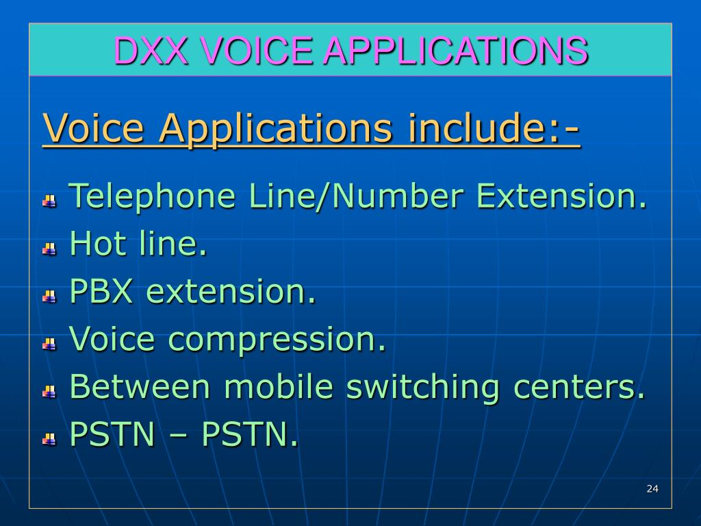 DXX VOICE APPLICATIONS