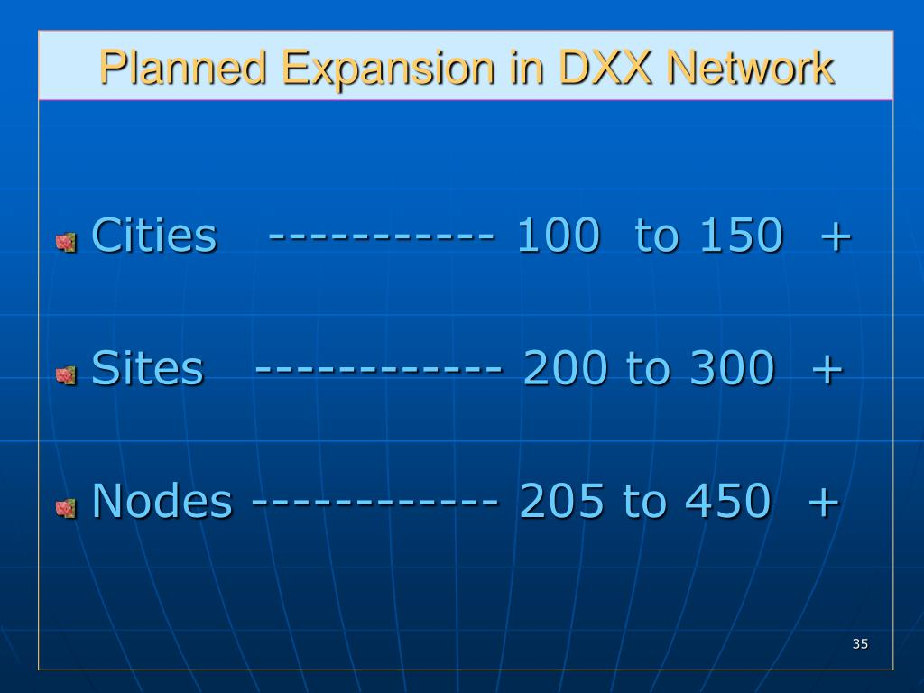 Planned Expansion in DXX Network