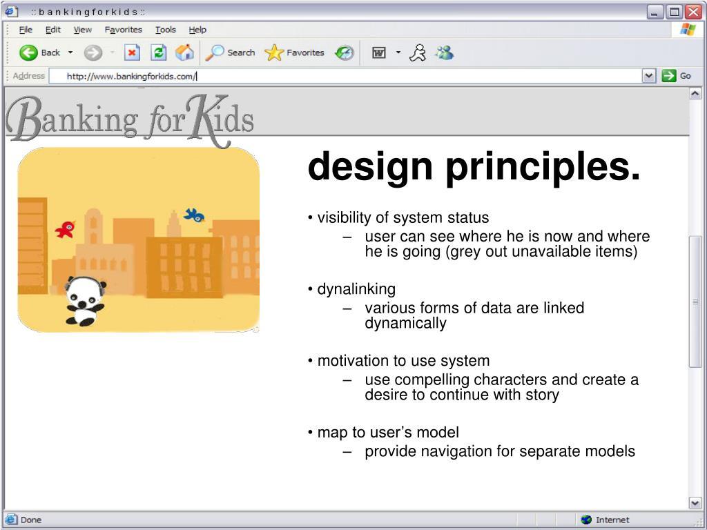 design principles.