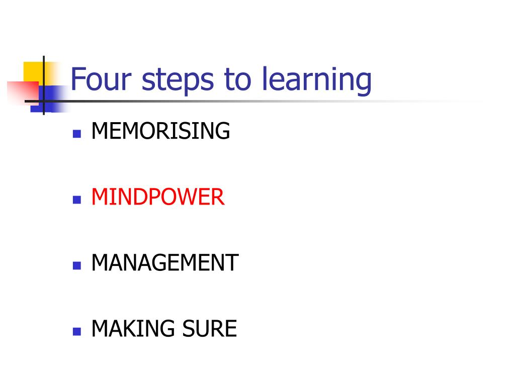 Four steps to learning