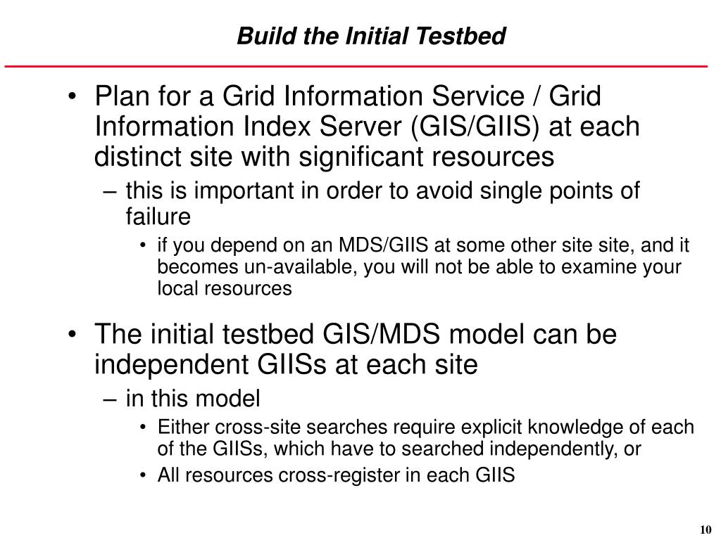 Build the Initial Testbed