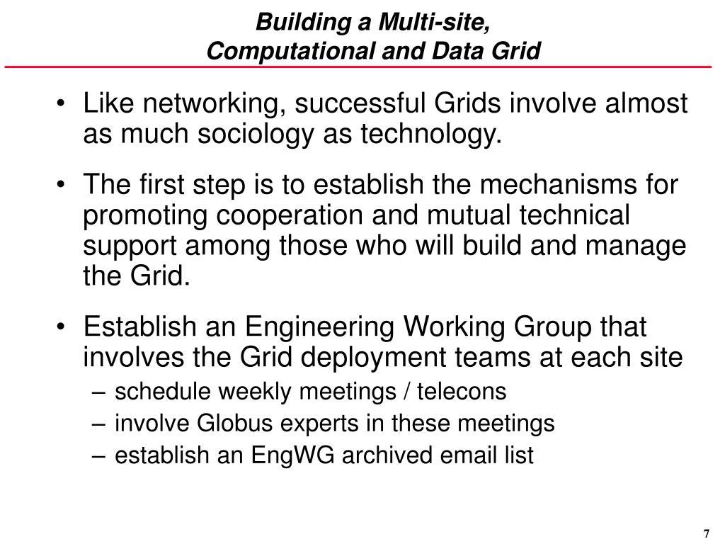 Building a Multi-site,