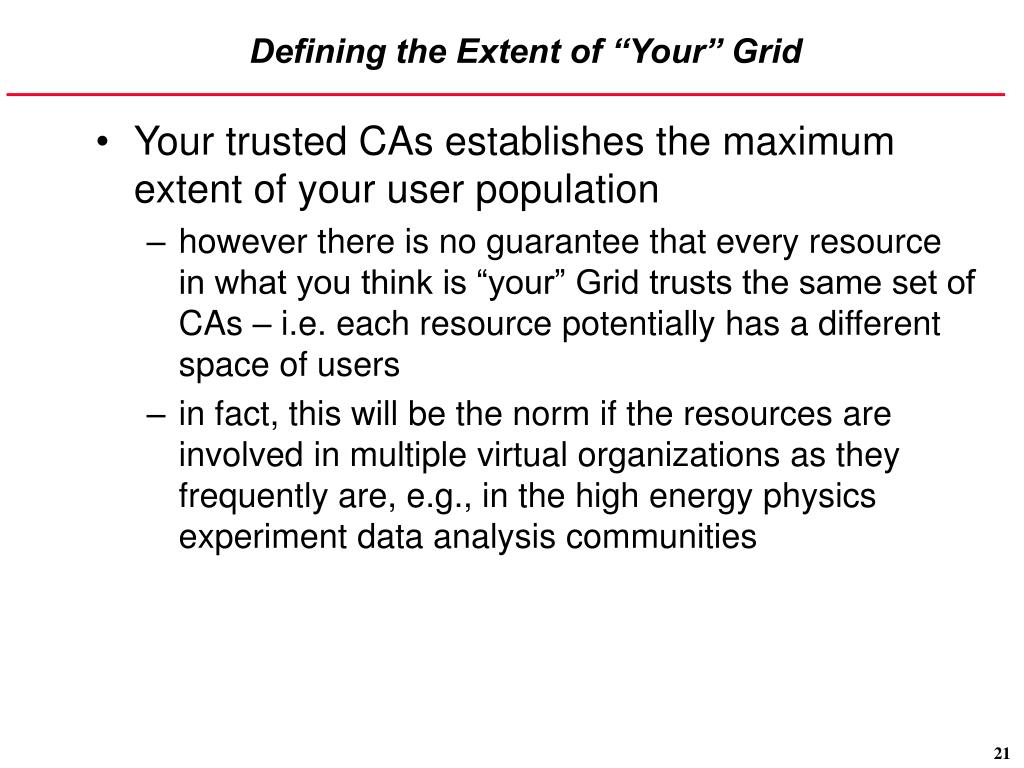 "Defining the Extent of ""Your"" Grid"
