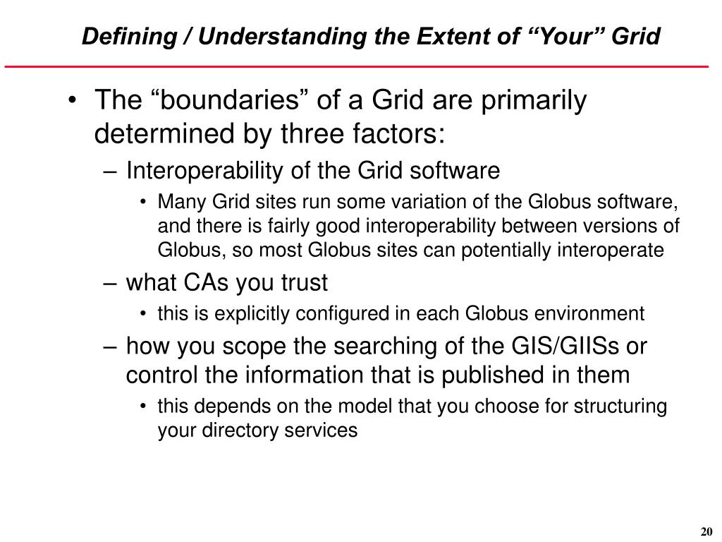 "Defining / Understanding the Extent of ""Your"" Grid"