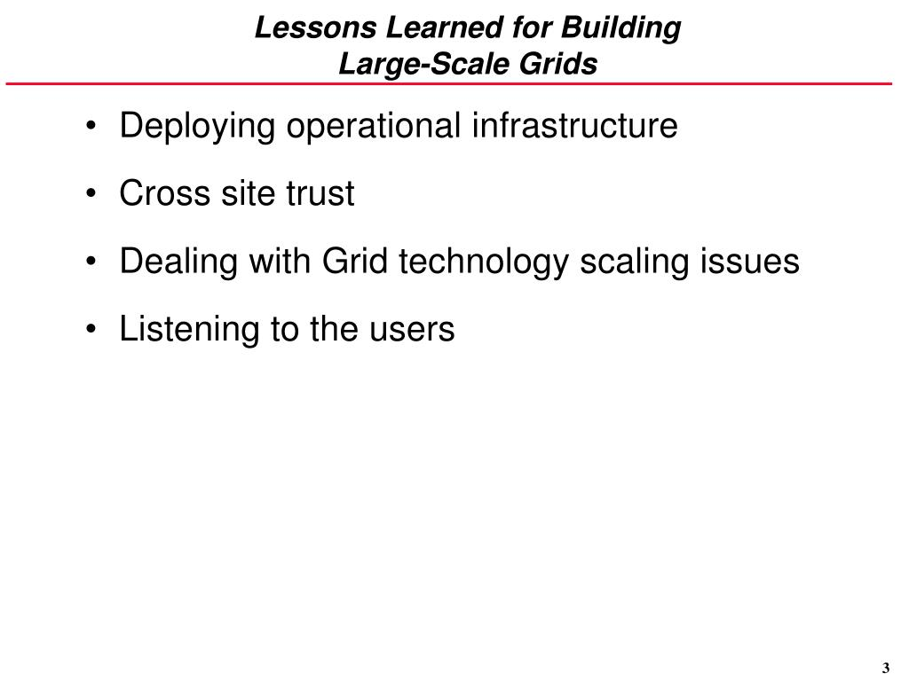 Lessons Learned for Building