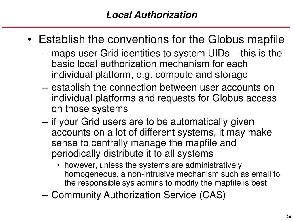 Local Authorization