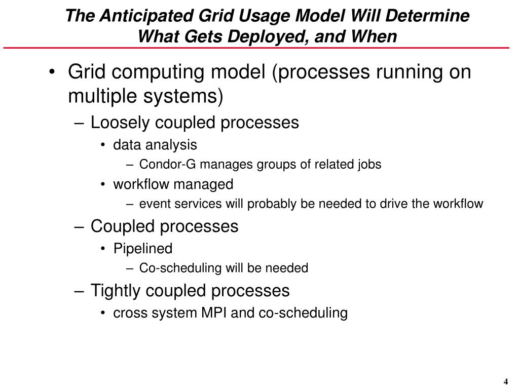 The Anticipated Grid Usage Model Will Determine What Gets Deployed, and When