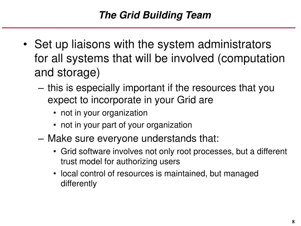 The Grid Building Team